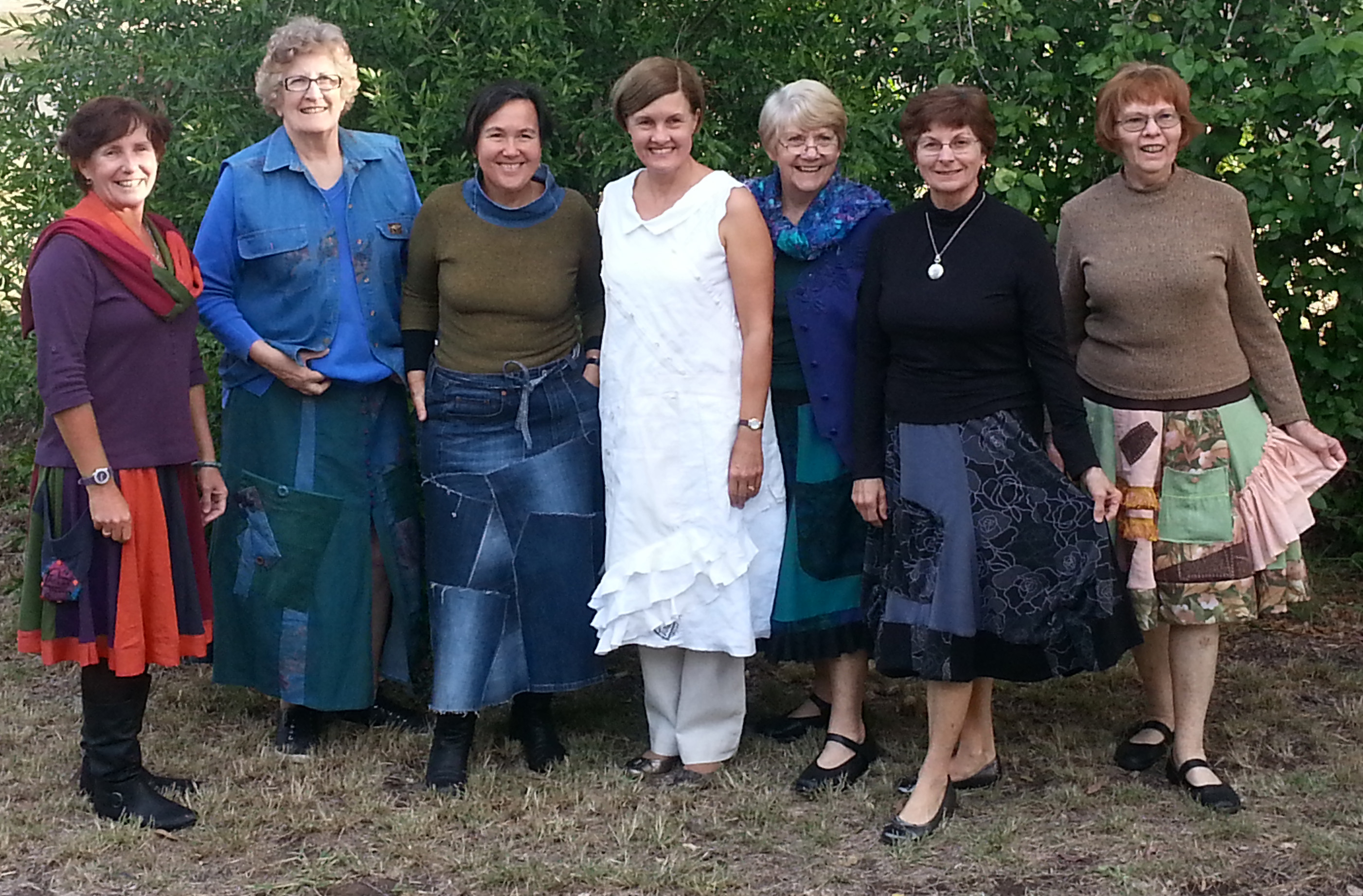 Kerrie, Gwen, Jane, Meredith, Audrey, Bev and Fay