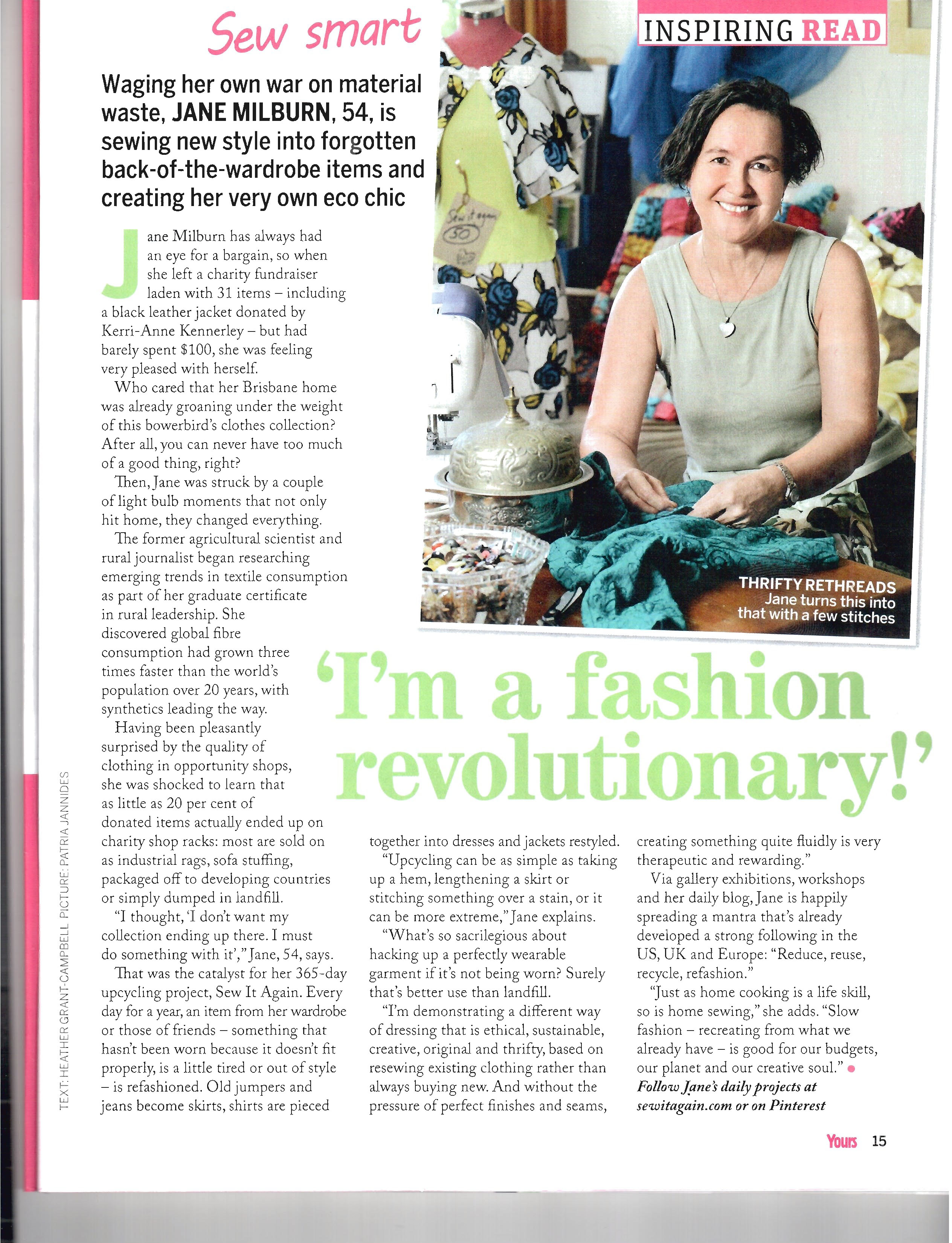 Yours magazine October 2014 page 15
