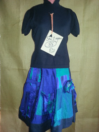 upcycled history skirt