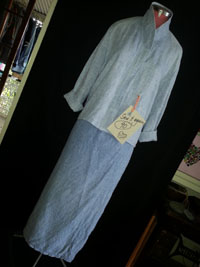 upcycled linen suit