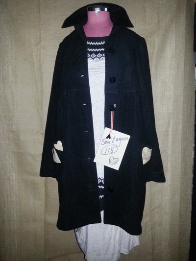 upcycled wool cashmere coat