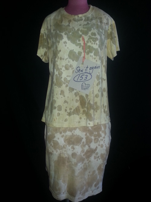 eco-dyed t-shirts reworked