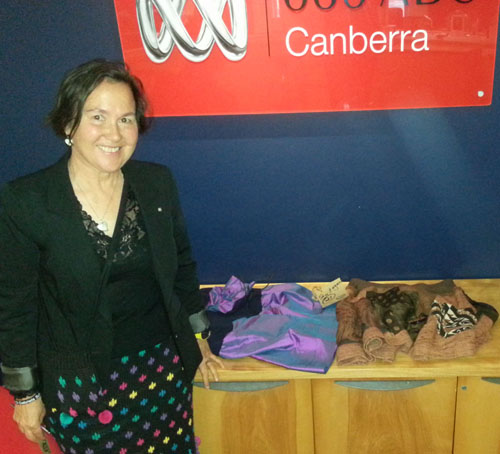 Jane Milburn at ABC666 Canberra studio