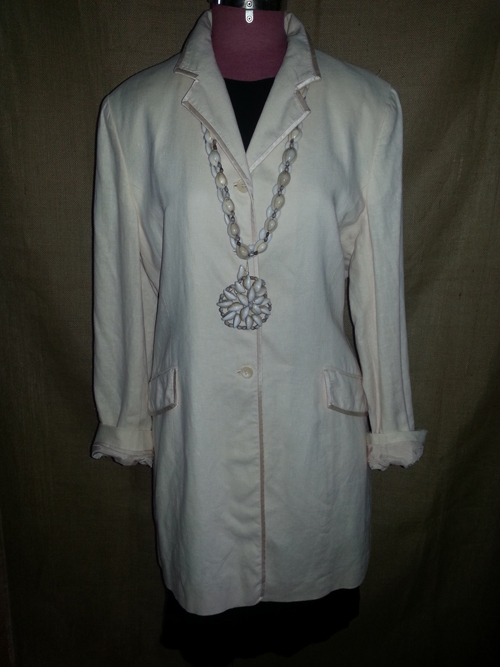 Upcycled linen coat dress
