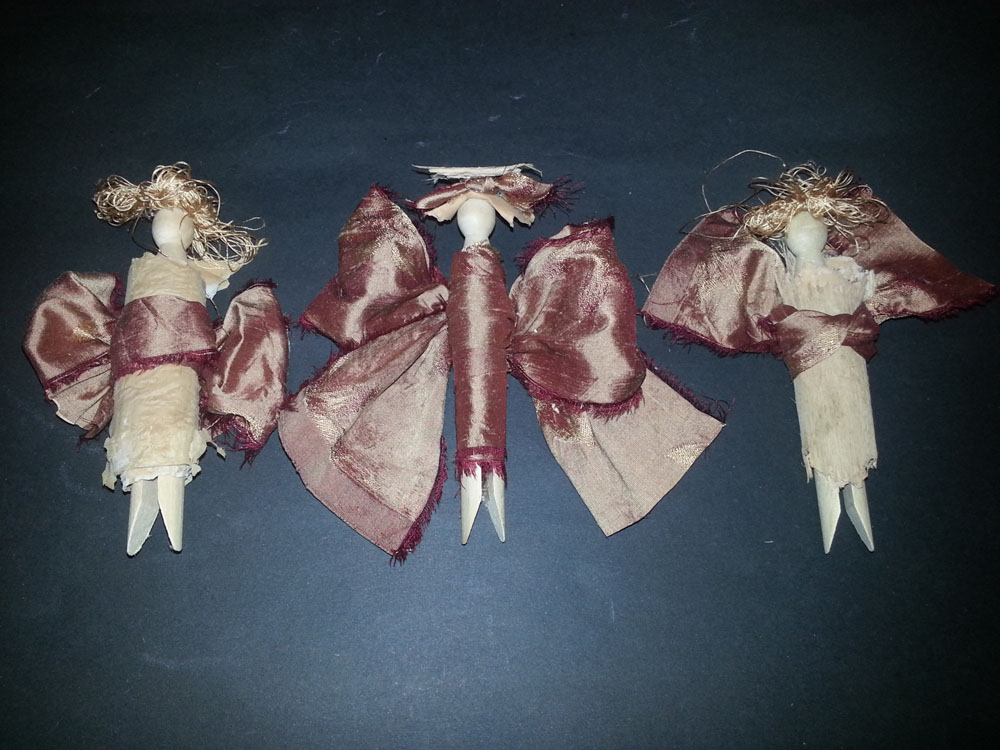 dolly peg angel christmas decorations